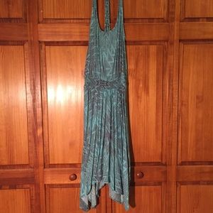 blue and gray summer dress